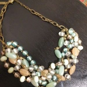 Beaded necklace w/ light neutral colors